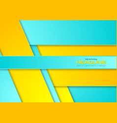 bright cyan and yellow abstract corporate vector image