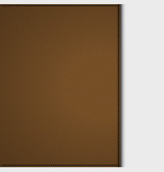 Brown leather background panel on white vector