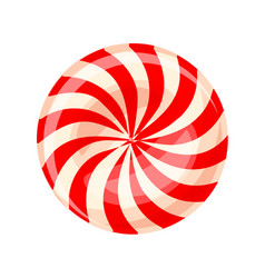 candy sweet swirl icon cartoon style vector image