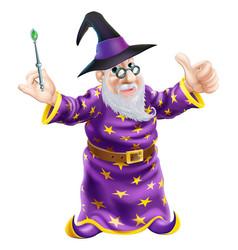 Cartoon wizard vector