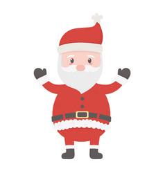 celebrating santa claus character merry christmas vector image