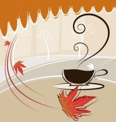 coffee and autumn season vector image