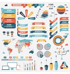 Collection infograph people elements vector
