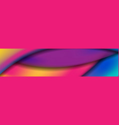 colorful modern liquid waves abstract banner vector image