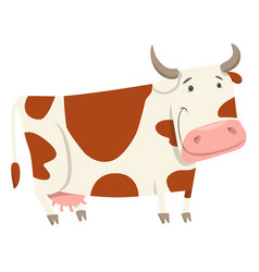 Cute cow farm animal character vector