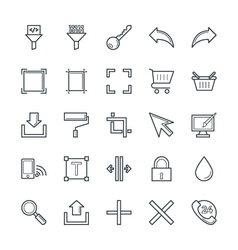 Design and Development Cool Icons 6 vector image