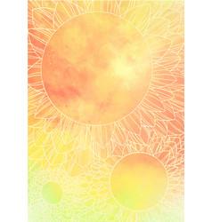 Doodle sunflower mandala background for summer vector