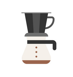 Drip coffee coffee related flat style icon vector