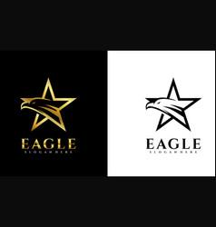 Eagle star logo template vector
