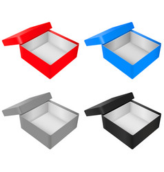 empty gift box colored set vector image