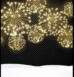 Festive christmas background with firework vector