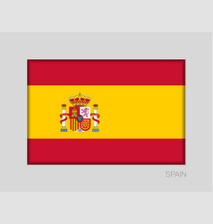 Flag of spain national ensign aspect ratio 2 to 3 vector