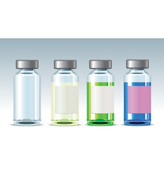 Four medicine bottles vector