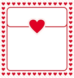 Frame border red heart design for valentine vector image vector image