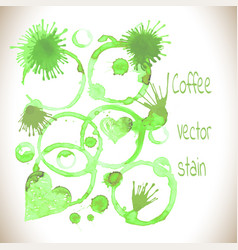 Green tea stain on a white background vector