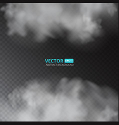 grey color fog or smoke isolated on transparent vector image