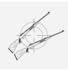 guns and target rifle vector image