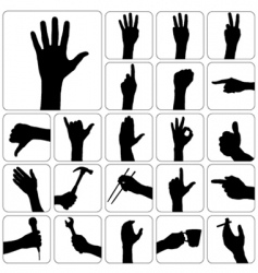 Hand silhouette vector
