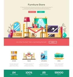 House interior store website header banner with vector image