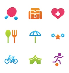 icon set activity and rest vector image