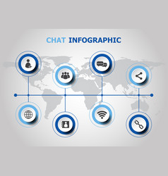 infographic design with chat icons vector image