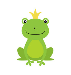 isolated frog prince on white vector image
