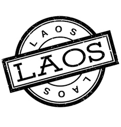 Laos rubber stamp vector