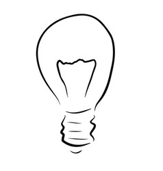 light bulb sketch outline silhouette vector image
