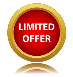Limited offer icon vector