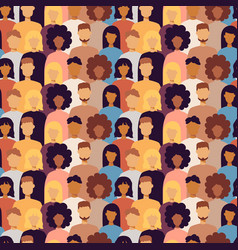 Many trendy people seamless pattern vector