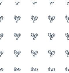 maraca icon pattern seamless white background vector image