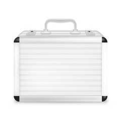 Metal suitcase vector image