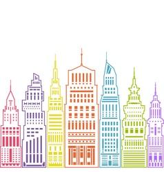 Modern Big City Linear Style vector