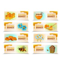 Natural honey horizontal banners vector