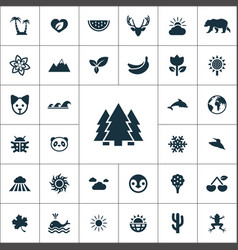 nature icons universal set for web and ui vector image