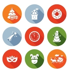 New Year and the Presidents address Icons Set vector