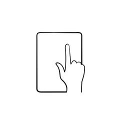 Online education app hand drawn sketch icon vector
