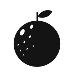 Orange simple icon vector