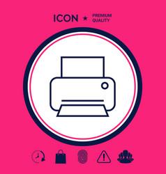 print line icon vector image