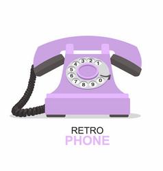 purple vintage telephone isolated on white vector image