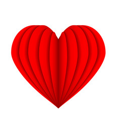 Red heart symbol love from paper stock vector