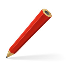 Red pencil vector