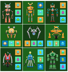 robots creatures intellect vector image