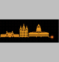 salt lake city light streak skyline vector image