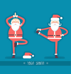 santa claus doing yoga isoiated for design vector image