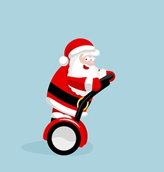 Santa claus on segway vector