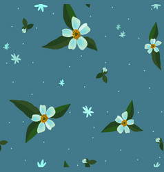 seamless floral pattern with apple blossom flowers vector image