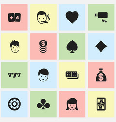 Set of 16 editable excitement icons includes vector