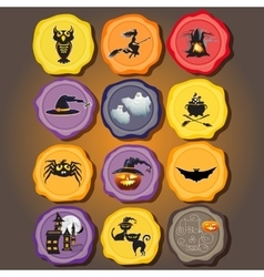 Set of Design elements for halloween vector image