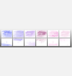 Set pastel watercolor background vector